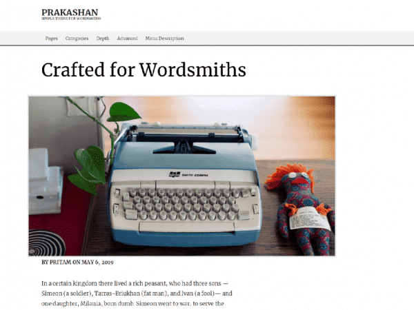 Free Prakashan WordPress theme