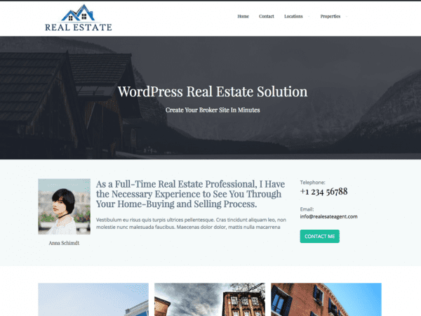 Free Real Estate Agent WordPress theme