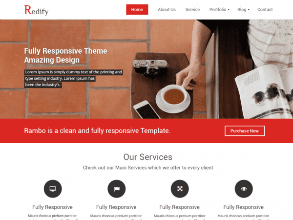 Free Redify WordPress theme