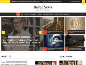 Free Royal News WordPress theme