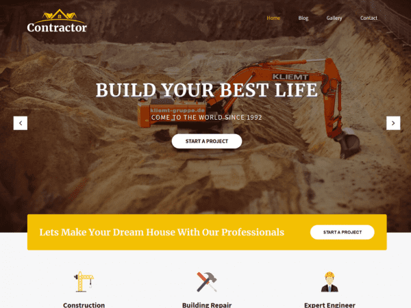 Free SKT Contractor WordPress theme