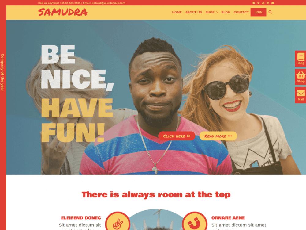 Free Samudra WordPress theme