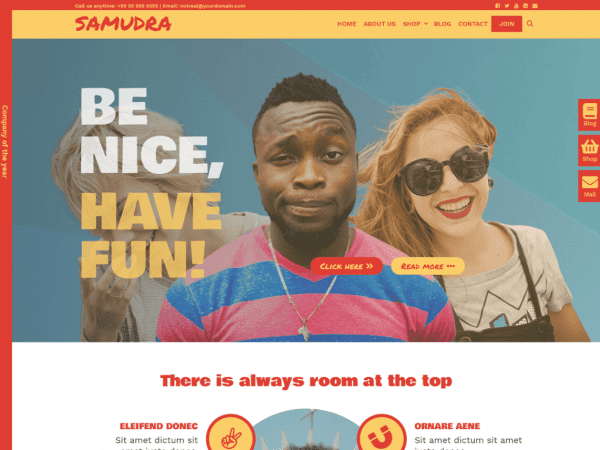 Free Samudra WordPress theme