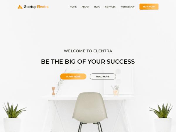 Free Startup Elentra WordPress theme