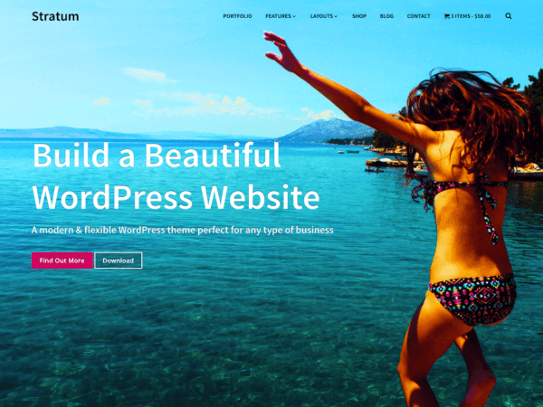 Free Stratum WordPress theme