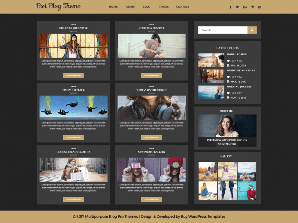 Free Ultimate Blogger WordPress theme
