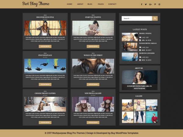 Free Ultimate Blogger WordPress theme