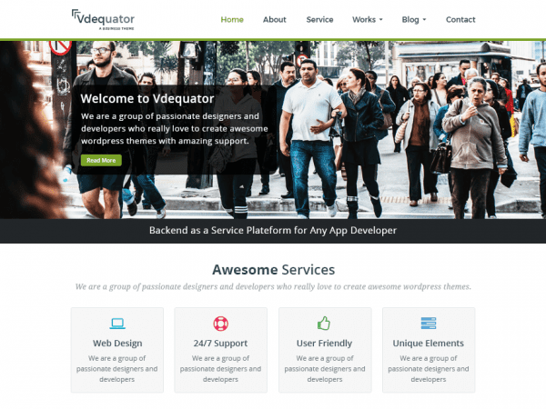Free Vdequator WordPress theme