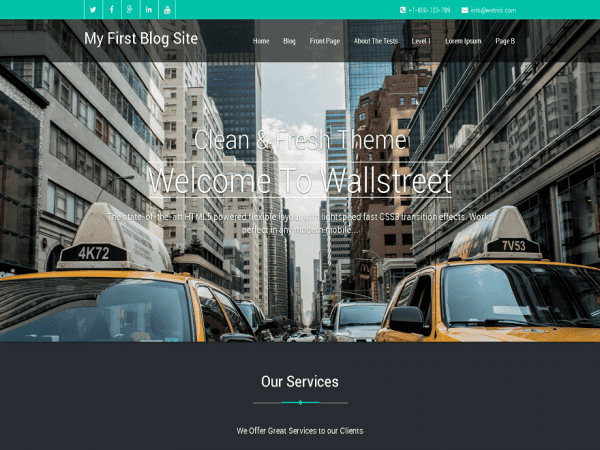 Free Wallstreet WordPress theme