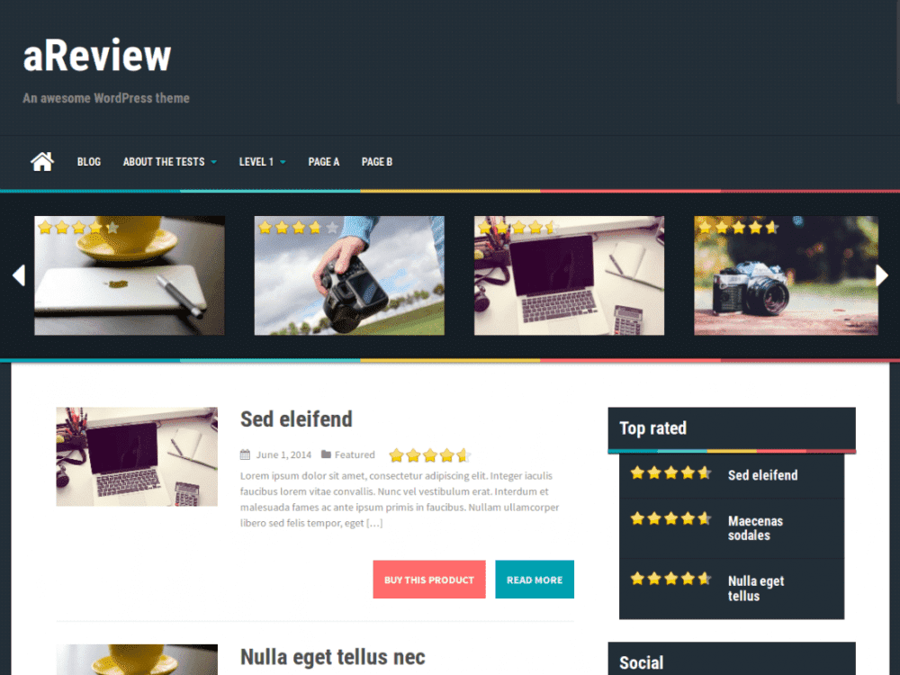 Free aReview WordPress theme