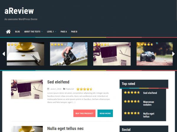Free aReview WordPress theme