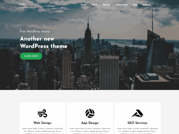 Free Crater Free WordPress theme
