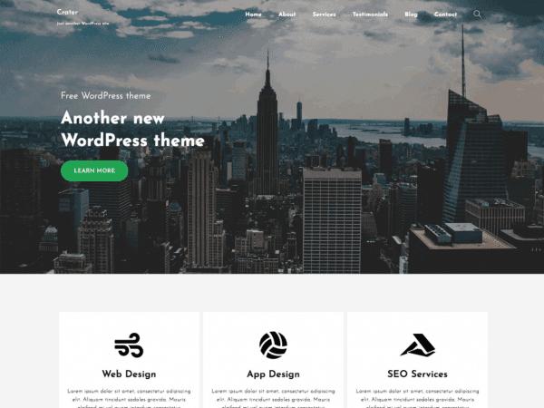 Free Crater Free WordPress theme