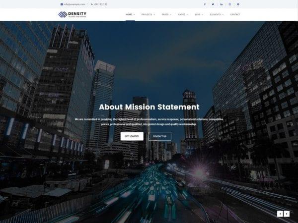 Free Density Business WordPress theme