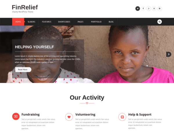 Free FinRelief WordPress theme