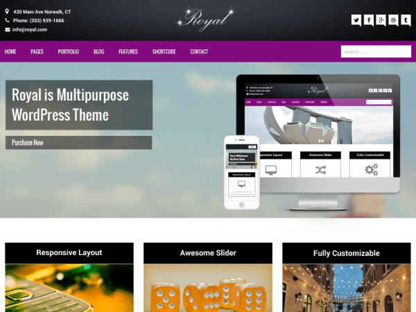 Free Royal WordPress theme