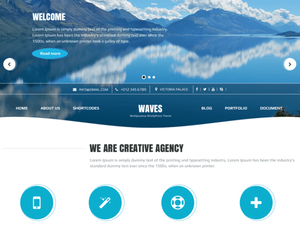 Free Waves WordPress theme