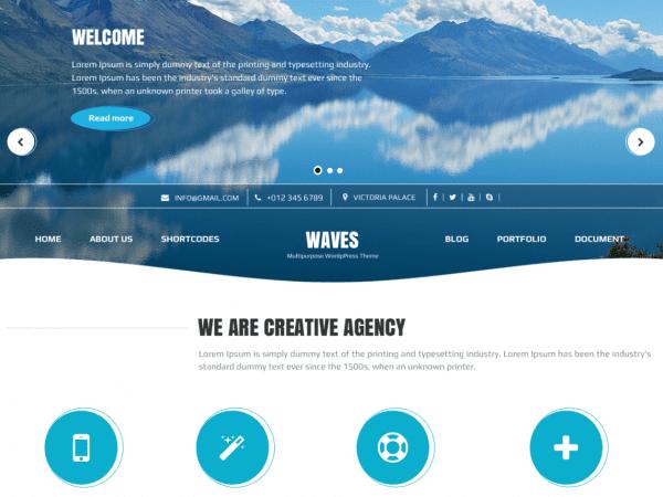 Free Waves WordPress theme