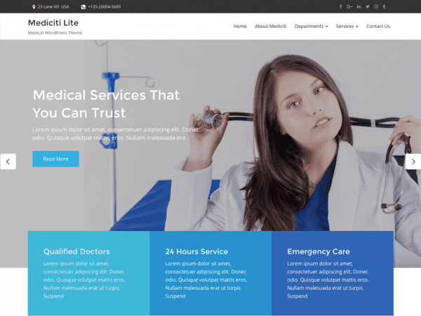 Free Mediciti Lite WordPress theme