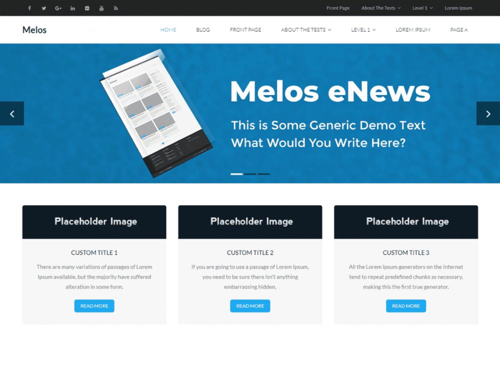 Download Free Melos eNews WordPress Theme - JustFreeWPThemes