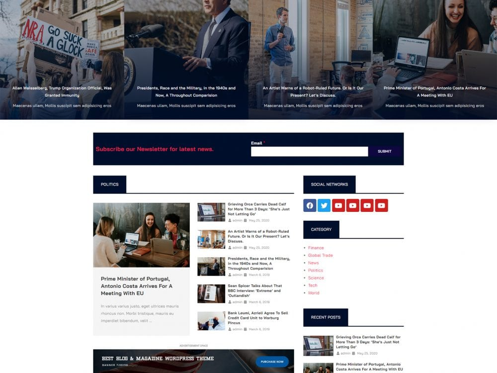 Download Free Lt News Wordpress Theme Justfreewpthemes