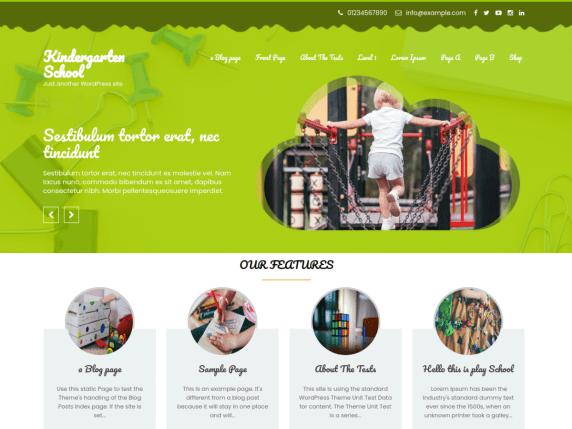 Free Kindergarten School WordPress Theme