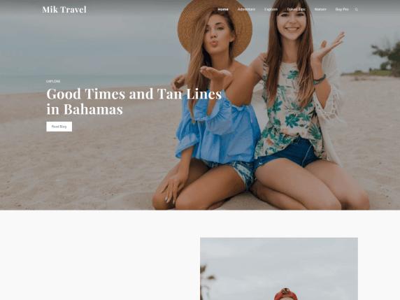 Free Mik Travel WordPress Theme
