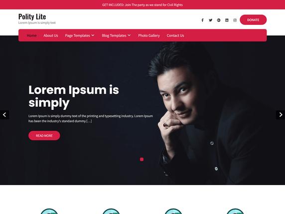 Free Polity Lite WordPress Theme