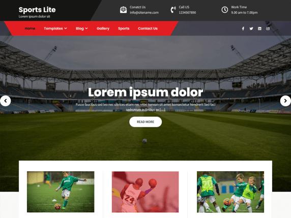 Sports Lite wordpress theme