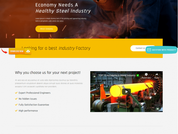 LT Industrial WordPress Theme