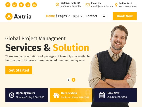 Axtria WordPress Theme