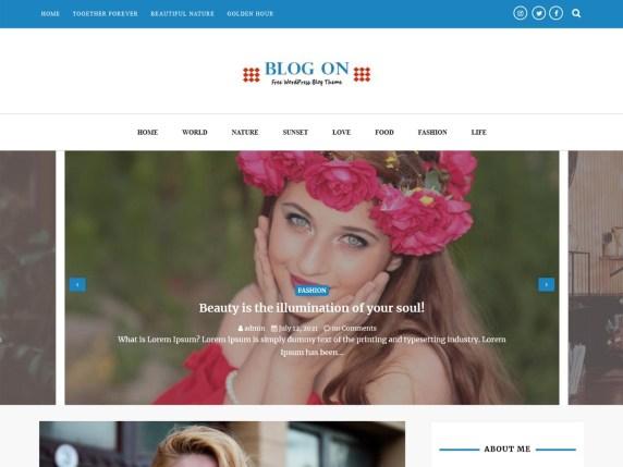 Blog On WordPress Theme