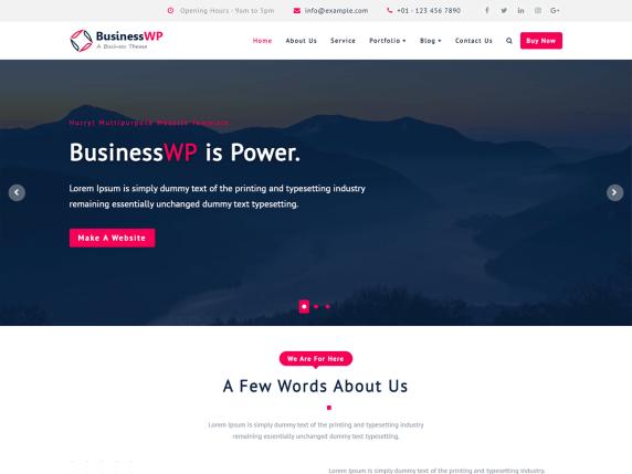 Businesswp WordPress Theme