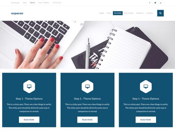 Experon Blog WordPress Theme