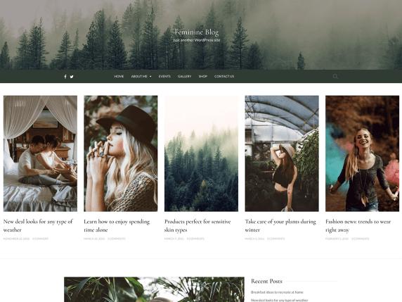 Feminine Blog WordPress Theme