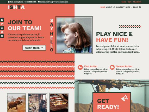 Ishta WordPress Theme