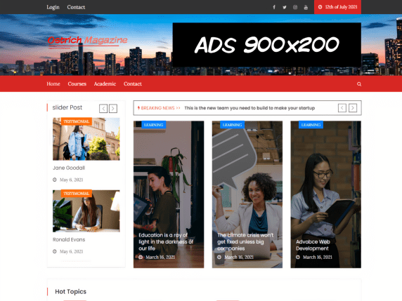 Ostrich Magazine WordPress Theme