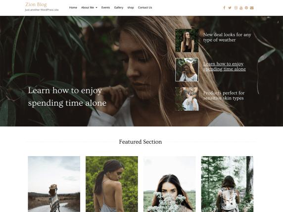 Zion Blog WordPress Theme