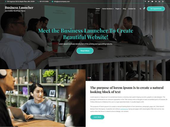 Business Launcher WordPress Theme