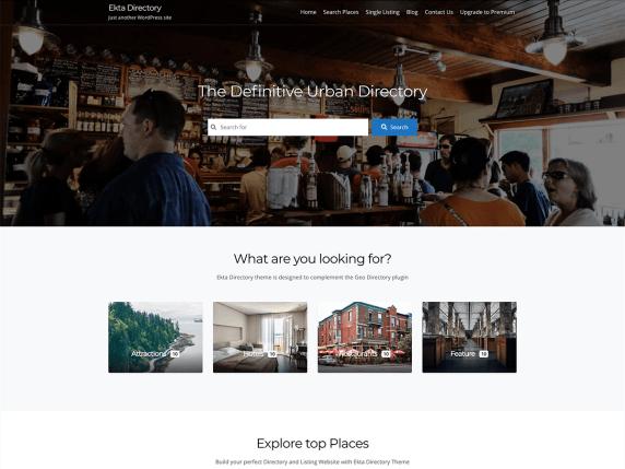 Ekta Directory WordPress Theme