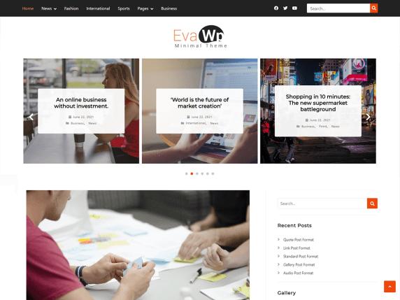 evaWp WordPress Theme