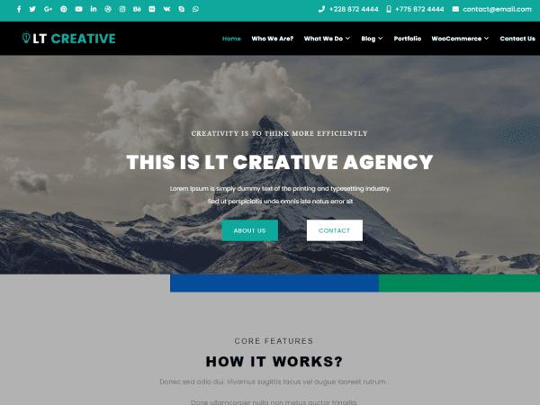 LT Creative WordPress Theme