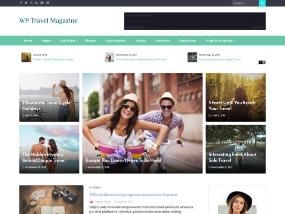 WP Travel Magazine WordPress Theme
