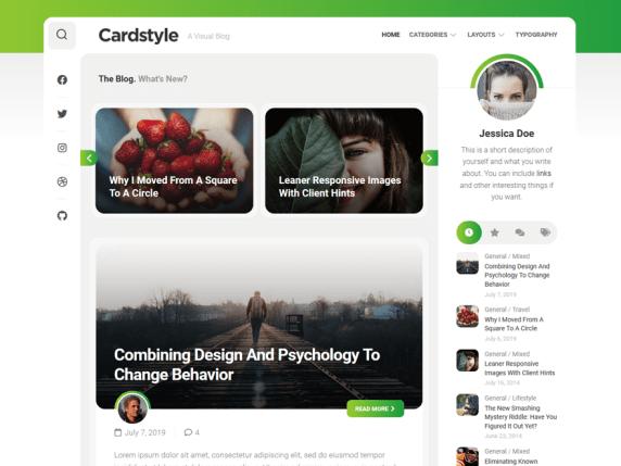 Cardstyle WordPress Theme