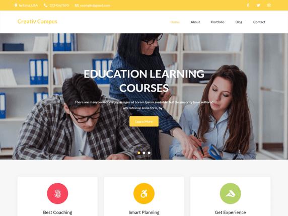 Educational Zone WordPress Theme