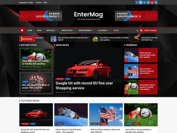 EnterMag WordPress Theme