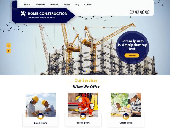 Home Construction WordPress Theme
