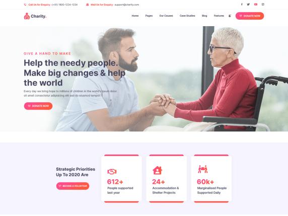NGO Charity Donation WordPress Theme