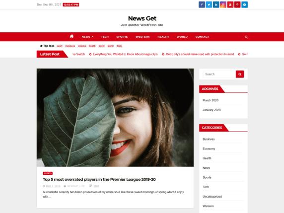 News Get WordPress Theme