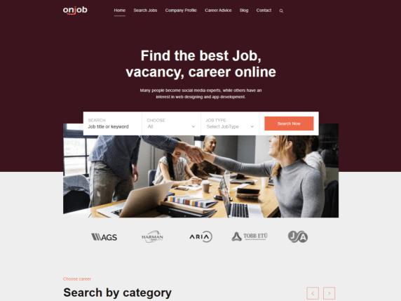 Onjob WordPress Theme